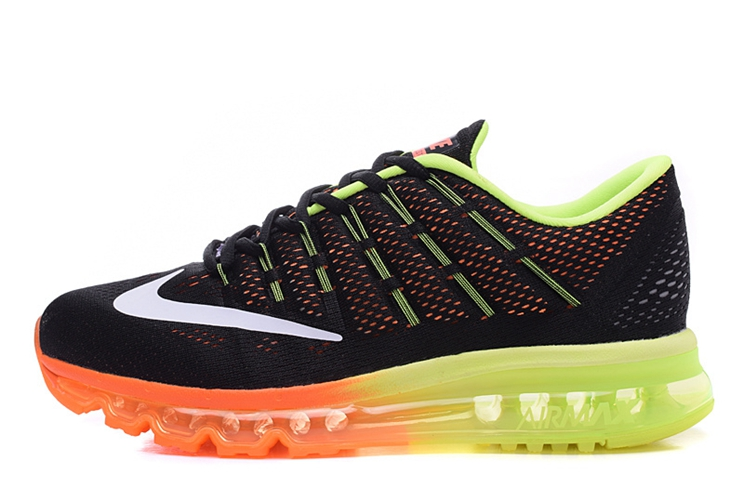 big sale bf51d cfdf4 806771 002 Nike Air Max 2016 Woman Trainers Black Neno Green Team Orange