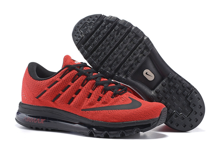 806771 303 Nike Air Max 2016 Team Red Black Black Trainers Mens