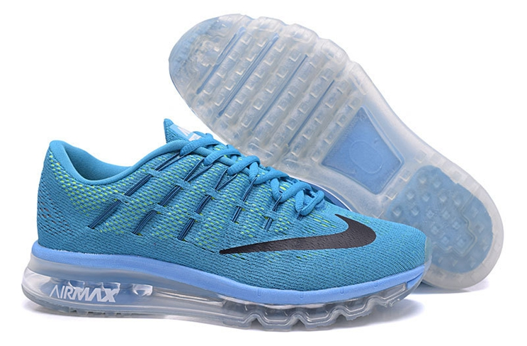 806771 400 Nike Air Max 2016 For Men's Sneakers Blue Lagoon Black Brave Blue