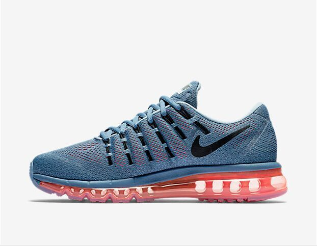 806771 402 Nike Air Max 2016 For Men's Ocean Fog Black Bright Crimson Blue Sneakers