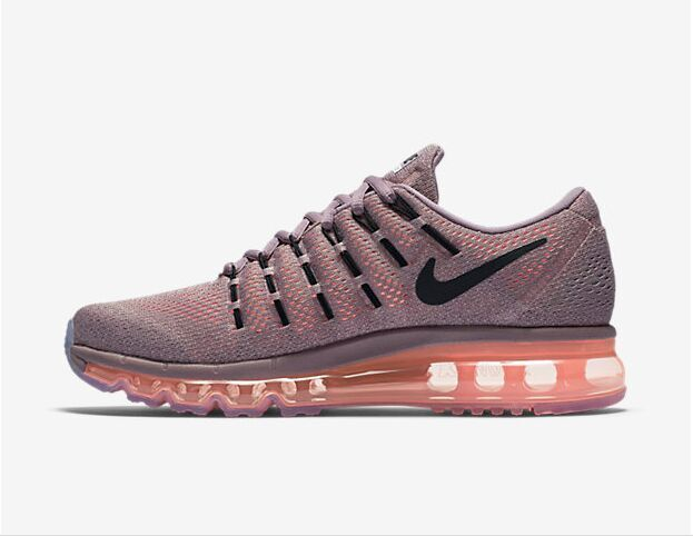 806772 500 Nike Air Max 2016 Purple Smoke Black Hyper Orange Shoes Woman