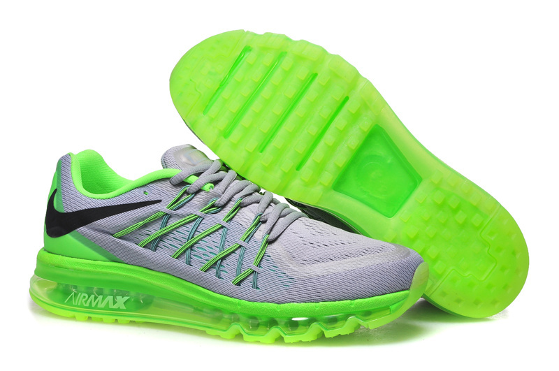 Air Max 2015 Nike Men Running Shoes Grey Green