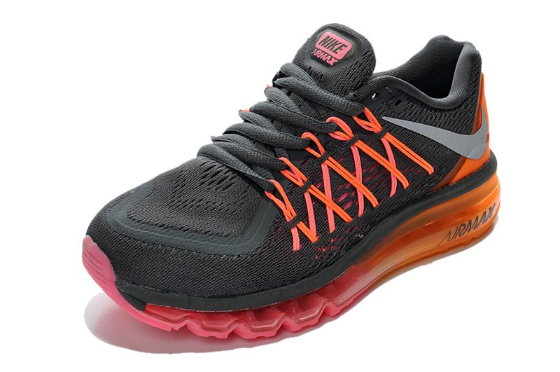 Air Max 2015 Women Deep Grey Orange Pink