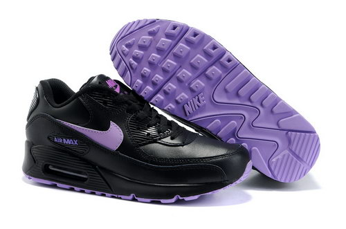 Air Max 90 Womens Black Purple Poland