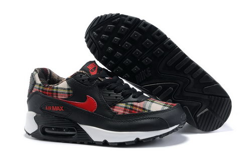 Air Max 90 Womens White Black Red Outlet Store