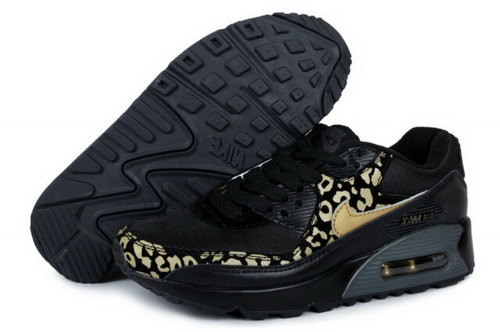 Air Max 90 Womens New Shoes Black Gold Closeout