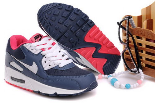 Air Max 90 Womens Shoes Blue White Red Discount Code