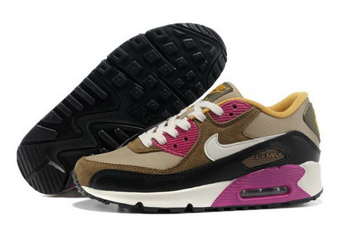 Air Max 90 Womens Shoes Brown Black White Outlet