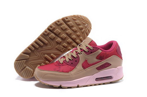Air Max 90 Womens Shoes Brown Red Denmark