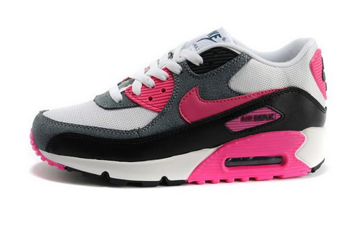 Air Max 90 Womens Shoes Deep Gray White Red Factory Store