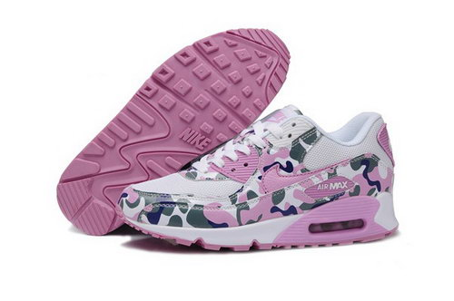Air Max 90 Womens Shoes Flower Pink White Closeout