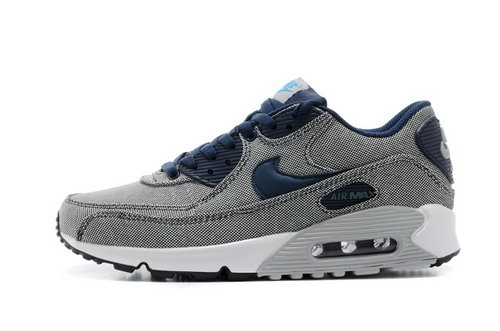 Air Max 90 Womens Shoes Gray Black Blue Hot On Sale Outlet Online