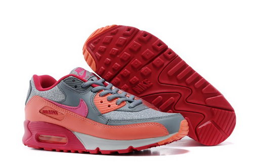 Air Max 90 Womens Shoes Gray Orange Red Hot On Sale Ireland
