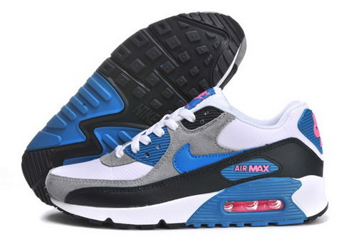 Air Max 90 Womens Shoes Light Gray Blue Black Greece