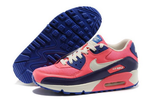Air Max 90 Womens Shoes Red Blue White Online