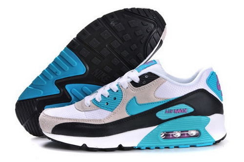 Air Max 90 Womens Shoes White Light Gray Blue Hong Kong