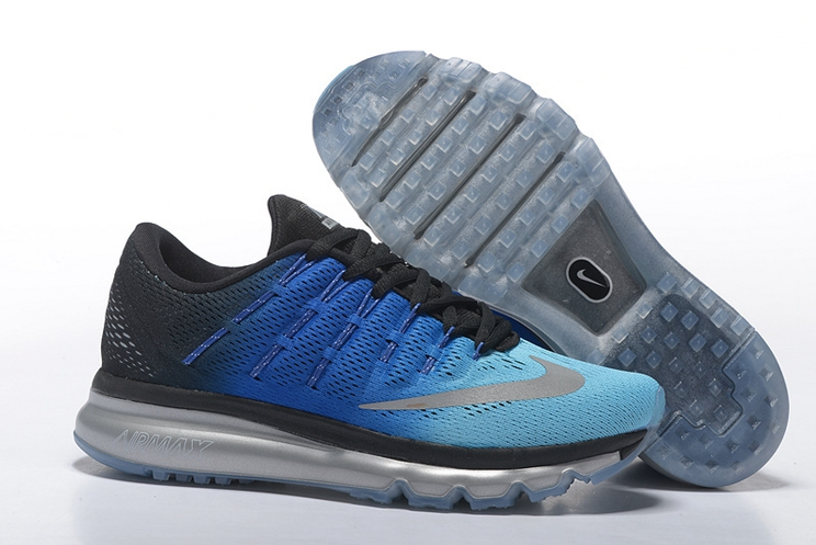 Men Nike Air Max 2016 Running Shoes Sky Blue Black Blue Silver 806771 332