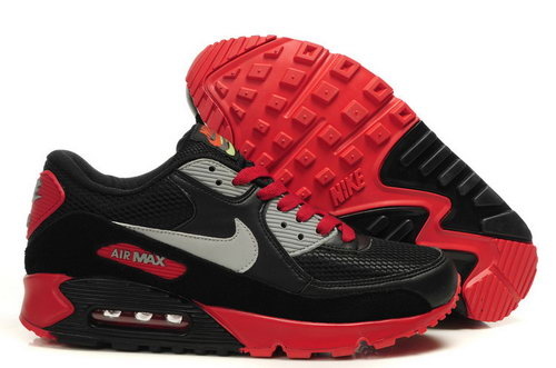 Mens Air Max 90 Red Black Grey Outlet Store