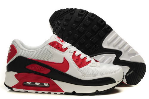 Mens Air Max 90 White Black Red Clearance