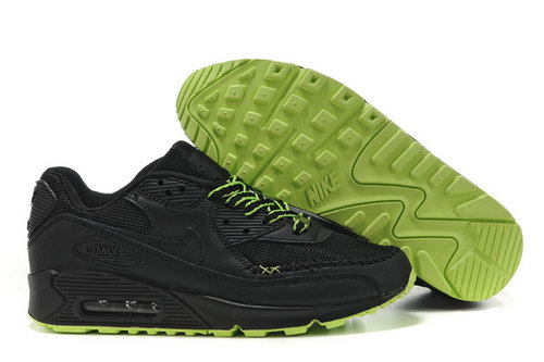 Mens Nike Air Max 90 Black Green Outlet