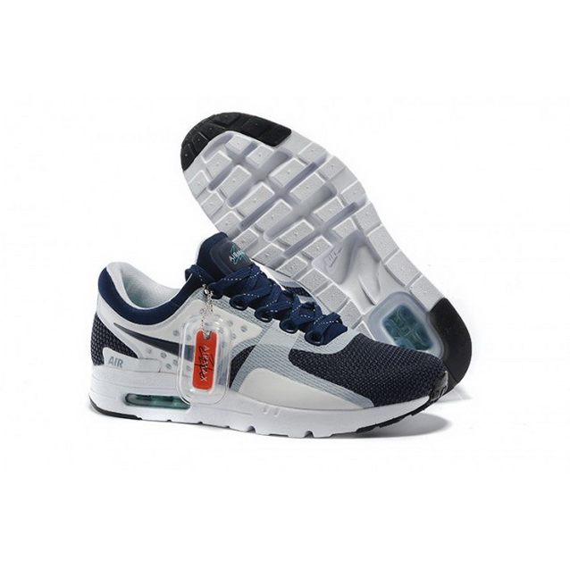 Mens Nike Air Max Zero Qs Navy White