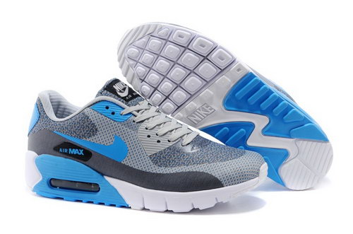Nike Air Max 90 Jcrd Mens Shoes Gray Sky Blue White Hot Usa