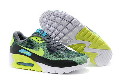 Nike Air Max 90 Jcrd Mens Shoes Green Yellow Gray Hot Australia