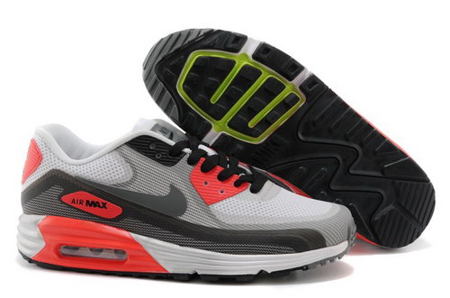 Nike Air Max Lunar 90 C3 0 Mens Shoes Light Gray Dark Gray Orange Outlet Store