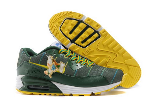 Nikeid Air Max 90 2014 World Cup National Team Womens Shoes Brazil Green Yellow Discount