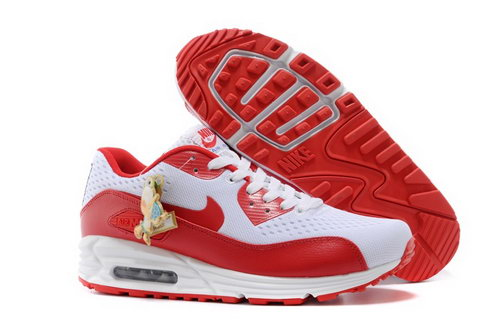 Nikeid Air Max 90 2014 World Cup National Team Womens Shoes England White Red Denmark