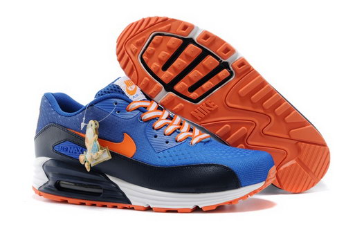 Nikeid Air Max 90 2014 World Cup National Team Womens Shoes Netherlands Blue Orange Factory Store