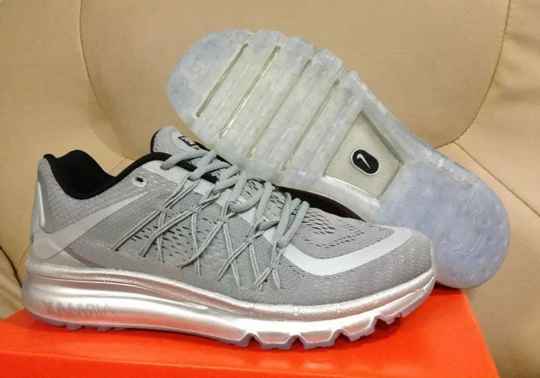 Nike Air Max 2015 Men Running Shoes Silver