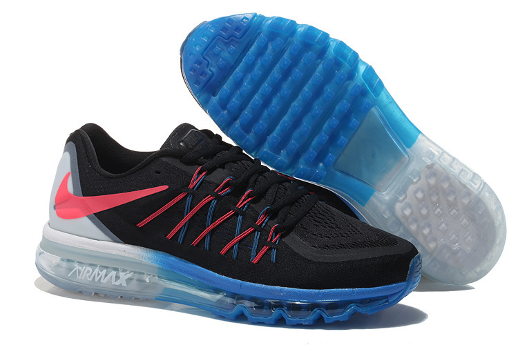 Air Max 2015 Men Nike Shoes Black Blue White