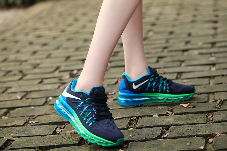 Nike Air Max 2015 Shoes For Women Black Green Blue