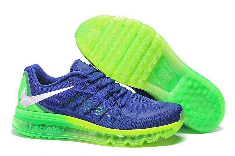 Air Max 2015 Nike Men Running Shoes Deep Blue Green