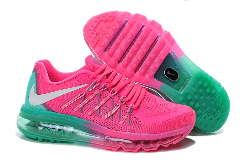 Nike Air Max 2015 Shoes For Women Pink Green