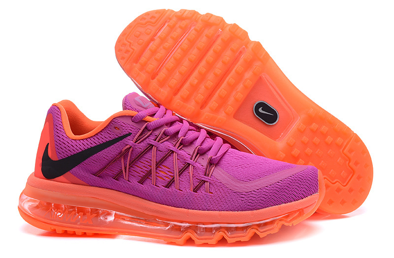 Nike Air Max 2015 Shoes For Women Purple Orange
