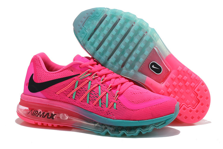 Nike Air Max 2015 Women Running Shoes Pink Green