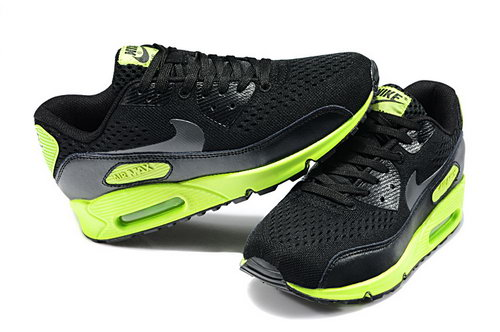 Nike Air Max 90 Em Womens Black Dark Grey Flash Lime New Zealand