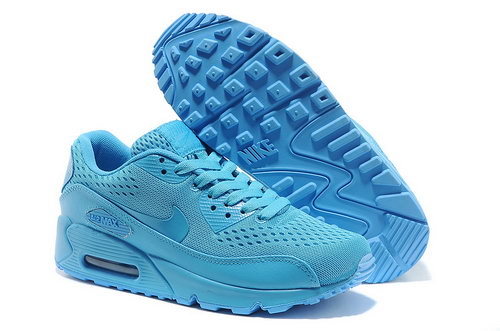 Nike Air Max 90 Em Unisex All Blue Sports Shoes Taiwan