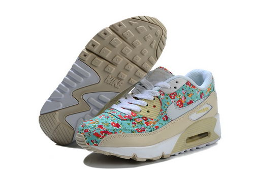Nike Air Max 90 Flowers Women Green White Running Shoes Netherlands