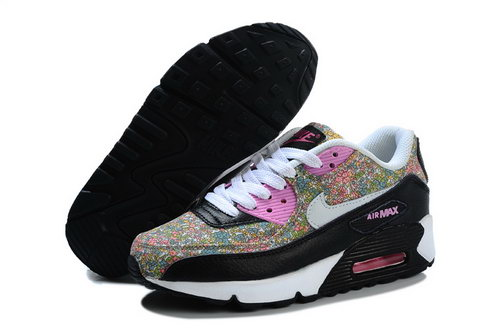 Nike Air Max 90 Flowers Women Pink White Running Shoes Best Price