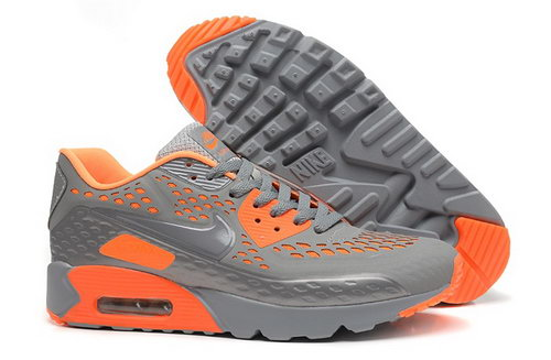 Nike Air Max 90 Hyp Prm Mens Shoes 2015 Gray Orange Hot On Sale