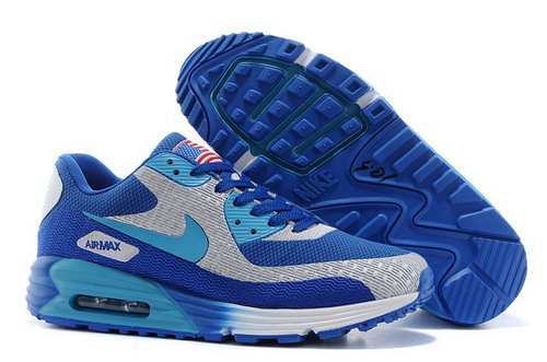 Nike Air Max 90 Hyp Prm Mens Shoes High Inside Blue Gray Hot Review