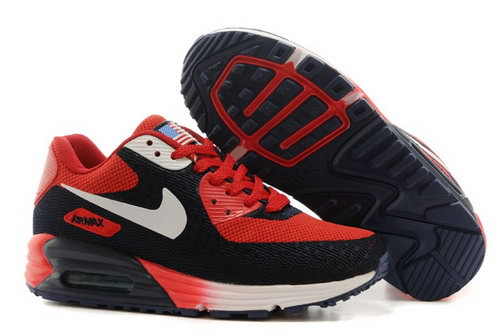 Nike Air Max 90 Hyp Prm Mens Shoes High Inside Red Black White Hot Factory Outlet