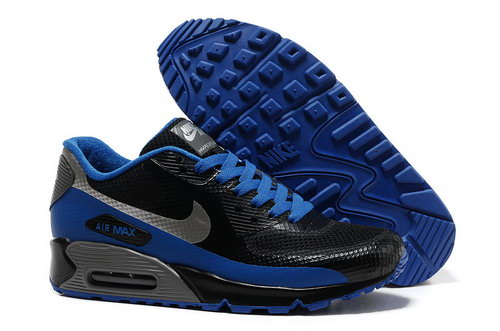 Nike Air Max 90 Hyp Frm Men Black Blue Running Shoes Sale
