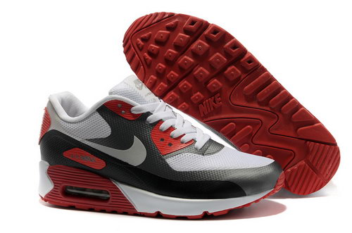 Nike Air Max 90 Hyp Frm Men White Red Running Shoes Usa