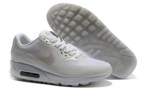 Nike Air Max 90 Hyp Frm Unisex All White Running Shoes Promo Code