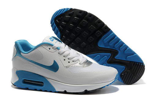 Nike Air Max 90 Hyp Frm Unisex White Blue Running Shoes Clearance
