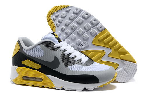 Nike Air Max 90 Hyp Frm Unisex White Yellow Running Shoes Closeout